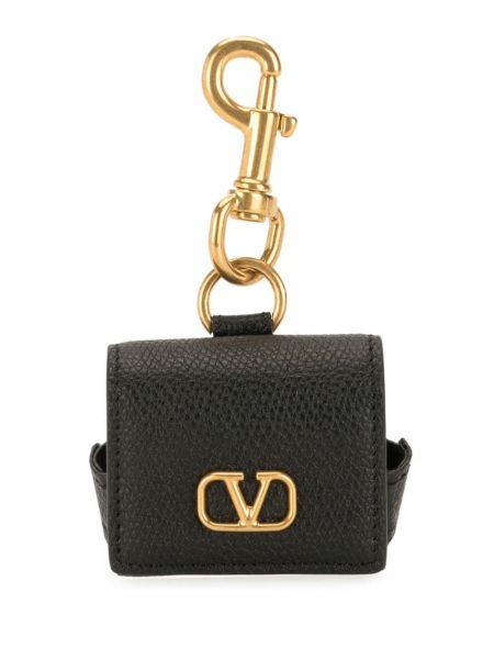 Кожаный кошелек для монет золотой Valentino Garavani