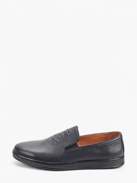 Синие кожаные туфли Pierre Cardin