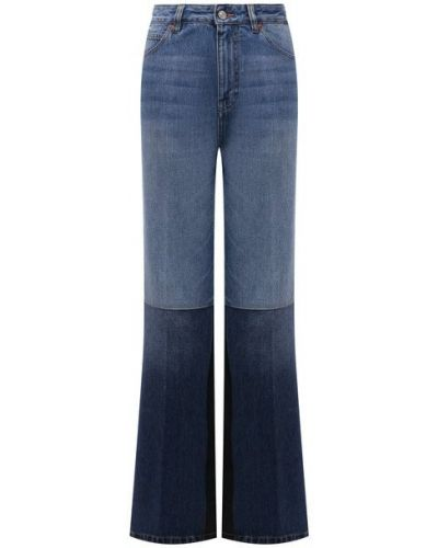 Хлопковые джинсы - синие Victoria Beckham