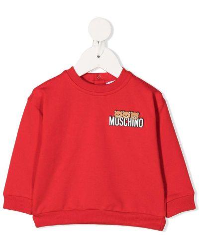 Bawełna bawełna prosto bluza z długimi rękawami Moschino Kids
