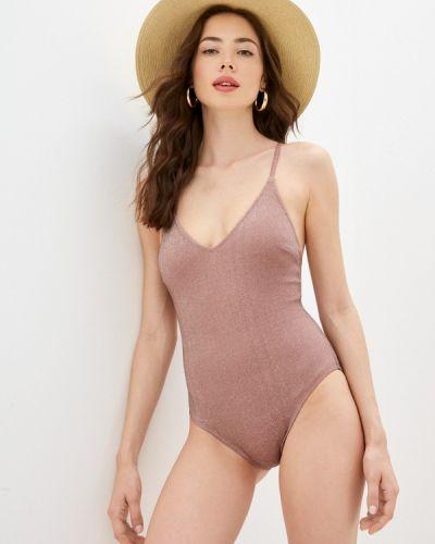 Розовый слитный купальник Dali