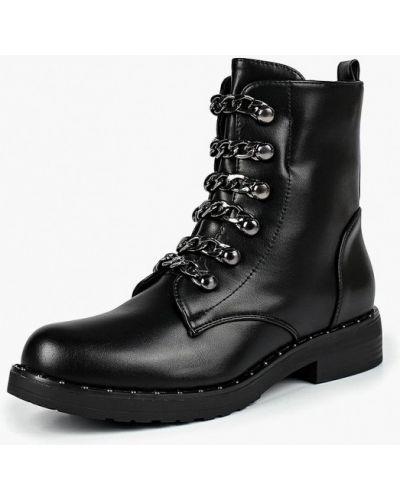 Кожаные ботинки осенние на каблуке Style Shoes