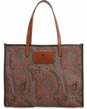 Кожаная сумка шоппер сумка-тоут Etro