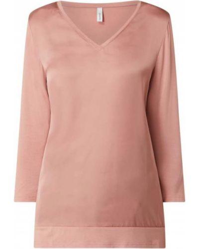 Różowa bluzka z wiskozy z dekoltem w serek Soyaconcept