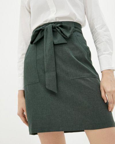Зеленая юбка свободного кроя Shovsvaro