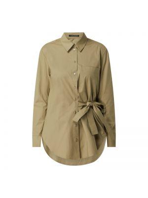 Zielona bluzka z długimi rękawami bawełniana Luisa Cerano