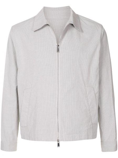 Klasyczna długa kurtka khaki bawełniana Kent & Curwen