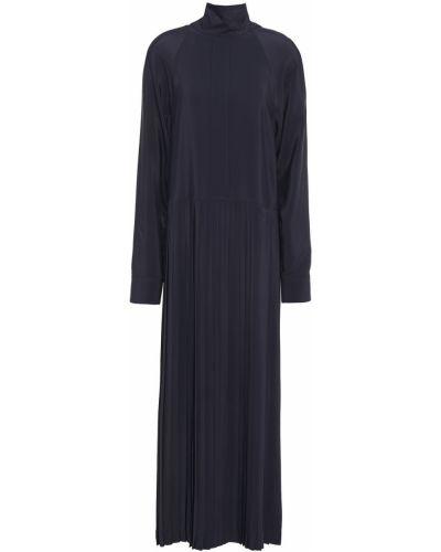 Ażurowa sukienka midi z jedwabiu zapinane na guziki Cedric Charlier
