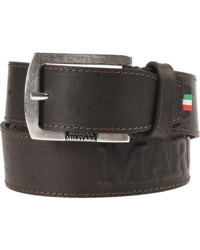 Кожаный ремень - коричневый Marina Militare