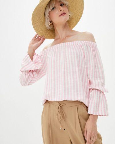 Розовая блузка с открытыми плечами с открытыми плечами Whitney
