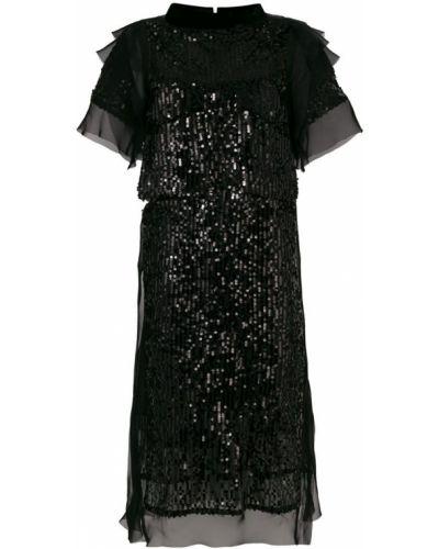 Платье мини миди с пайетками Sacai
