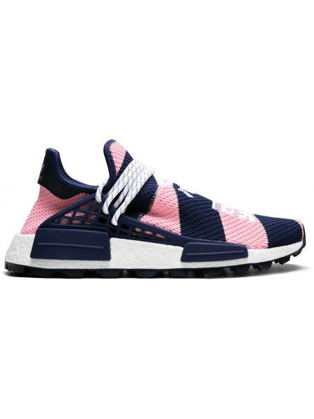 Różowe sneakersy z nylonu Adidas By Pharrell Williams