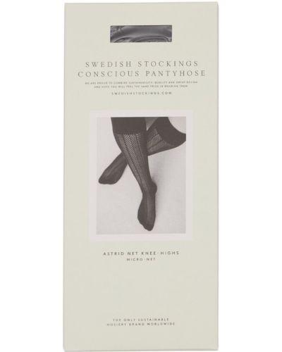 Czarne pończochy Swedish Stockings