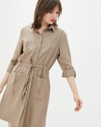 Бежевое платье-рубашка German Volf