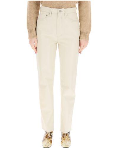 Beżowe spodnie Agolde