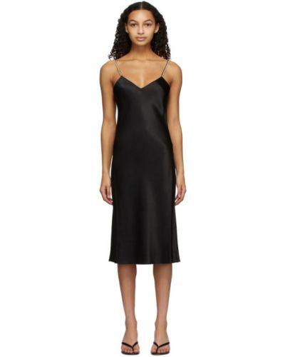 Шелковое черное платье без рукавов Kiki De Montparnasse