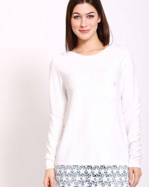 Белый пуловер из вискозы Pezzo