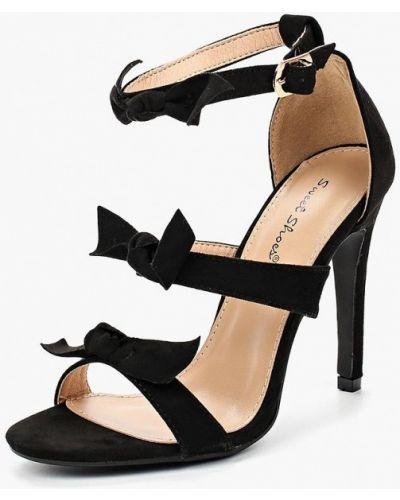 Черные босоножки замшевые Sweet Shoes