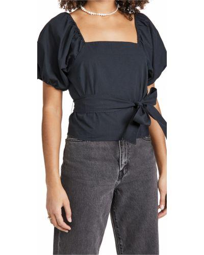 Bluzka z paskiem bawełniana w kratę Levi's