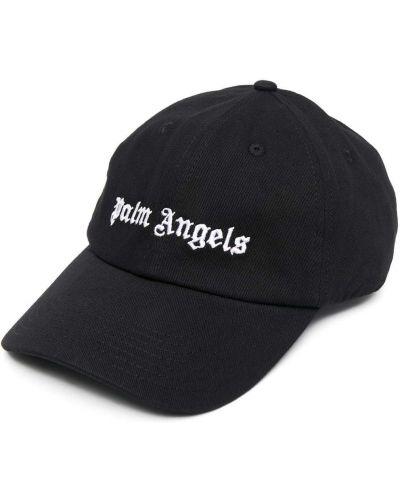 Klasyczna czarna czapka bawełniana Palm Angels