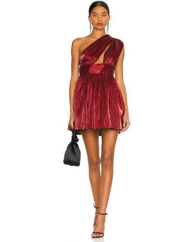 Платье мини классическое - бордовое Bronx And Banco