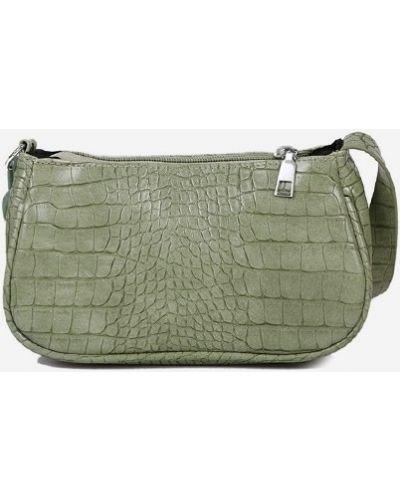 Зеленая сумка на плечо из натуральной кожи с тиснением Zaful