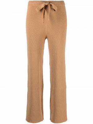 Шелковые брюки - коричневые Live The Process