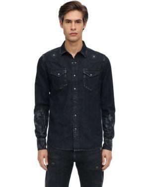Klasyczna czarna koszula jeansowa bawełniana Htc Los Angeles
