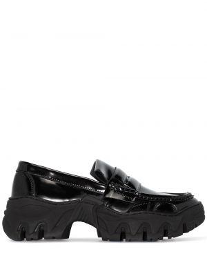 Czarne loafers skorzane Rombaut