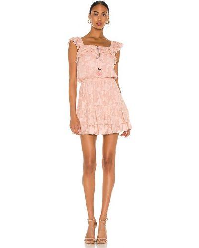 Шифоновое розовое платье мини с подкладкой Karina Grimaldi