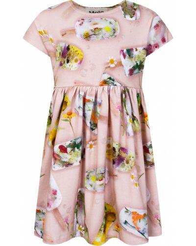 Хлопковое розовое платье Molo