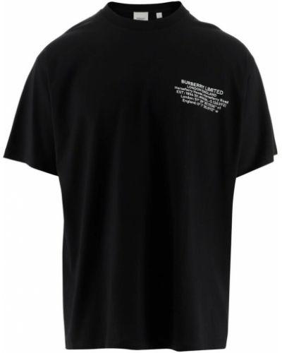T-shirt krótki rękaw - czarna Burberry