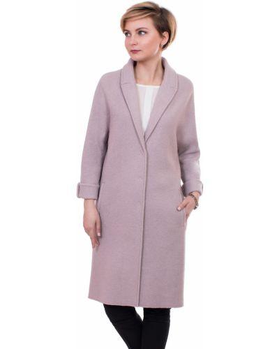 Пальто оверсайз с отложным воротником с воротником шерстяное J-splash