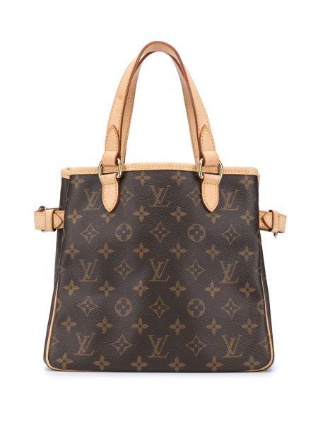Skórzana torebka z uchwytem z nadrukiem Louis Vuitton