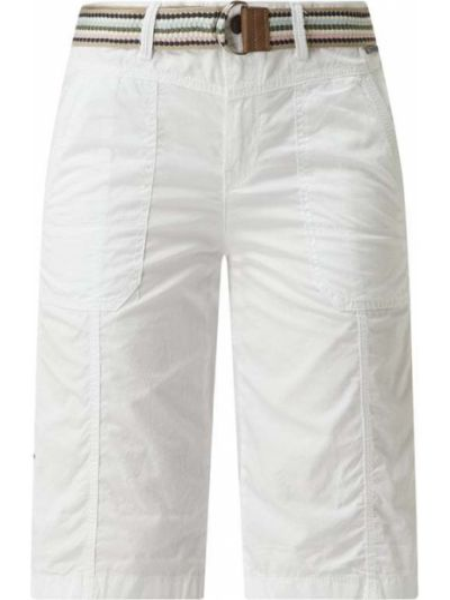 Białe bermudy bawełniane Esprit