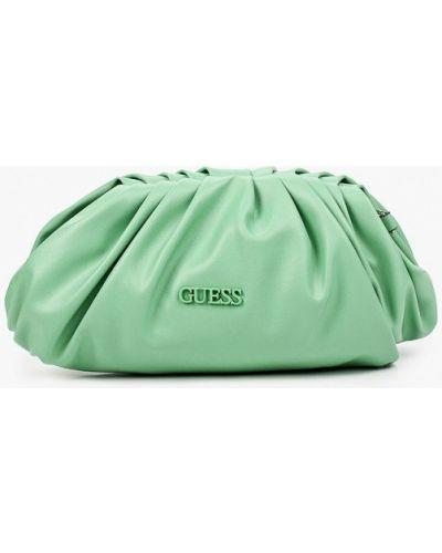 Зеленая кожаная сумка через плечо Guess