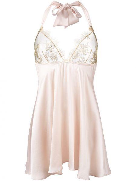 Пеньюар шелковый белый Gilda & Pearl