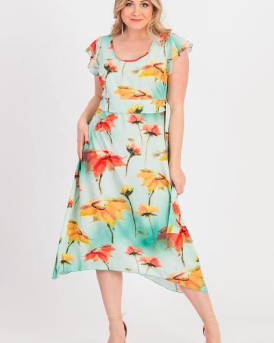 Платье с поясом через плечо с оборками Lacywear