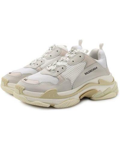 Кроссовки на шнуровке текстильные Balenciaga