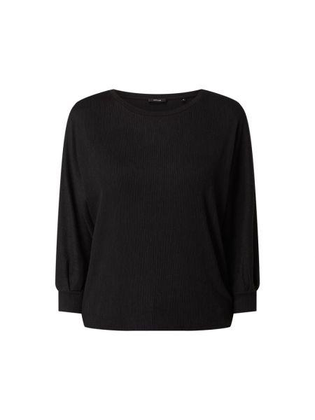 Prążkowana czarna bluza z wiskozy Opus