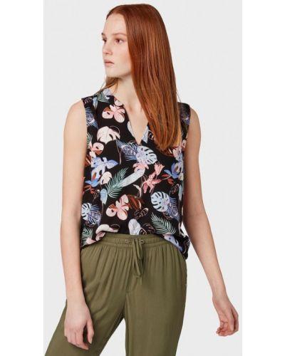 Блузка без рукавов черная Tom Tailor Denim