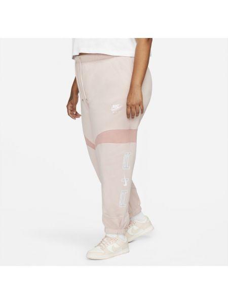 Joggery dzianinowe - różowe Nike