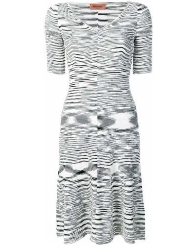 Платье мини трикотажное в рубчик Missoni