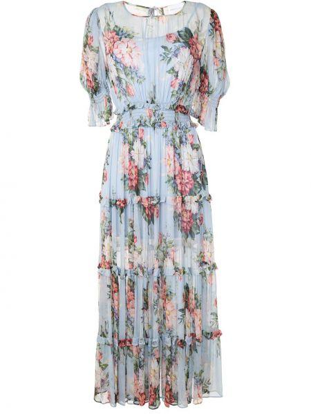 Платье мини с вырезом эластичное с короткими рукавами из вискозы Alice Mccall