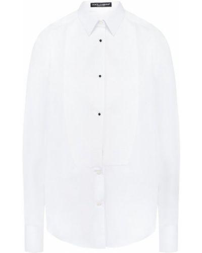 Блузка приталенная белая Dolce & Gabbana