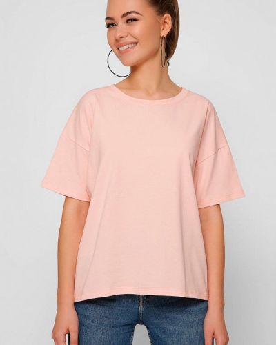 Розовая футболка с короткими рукавами Carica&x-woyz