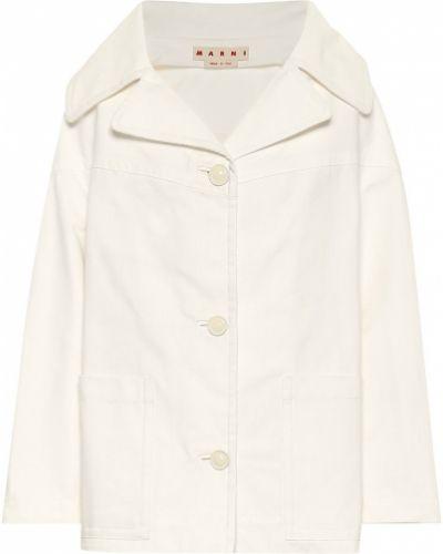 Хлопковая джинсовая куртка - белая Marni