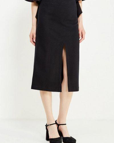 Прямая черная юбка карандаш Cocos