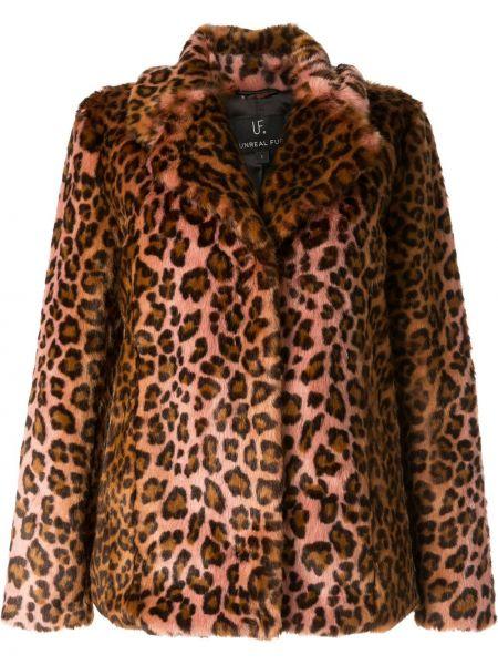Облегающая коричневая шуба Unreal Fur