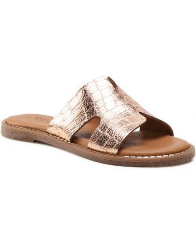 Różowe złote sandały Tamaris